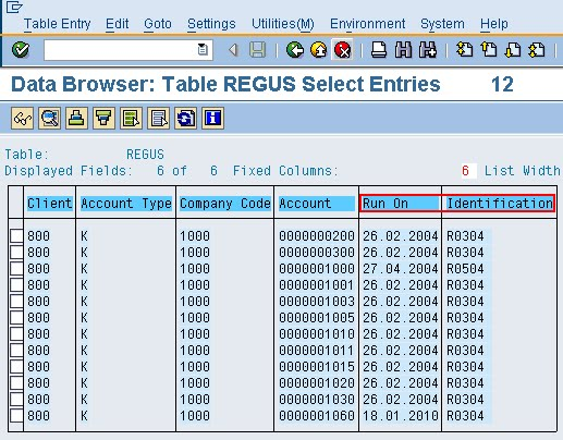 Reconciliation Account 22 Display Of Special Gl Transactions Transaction Code